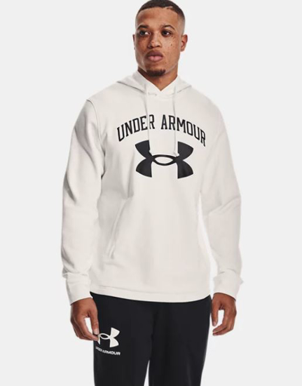 Picture of UNDER ARMOUR m kapucar 1361559-112 RIVAL TERRY HOODIE