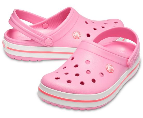 CROCS crocband 11016 pink lemonade/white