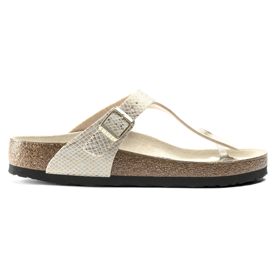 Picture of BIRKENSTOCK natikači 1018481 GIZEH - regular - shiny python eggshell
