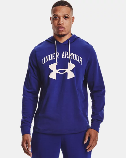 Picture of UNDER ARMOUR m kapucar 1361559-415 RIVAL TERRY HOODIE