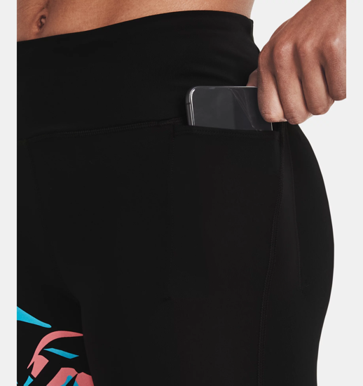 Picture of UNDER ARMOUR ž legice 1362207-001 RUN FLORAL 7/8 TIGHTS