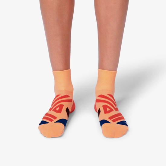 Picture of ON nogavice 312.00069 MID SOCK coral/navy
