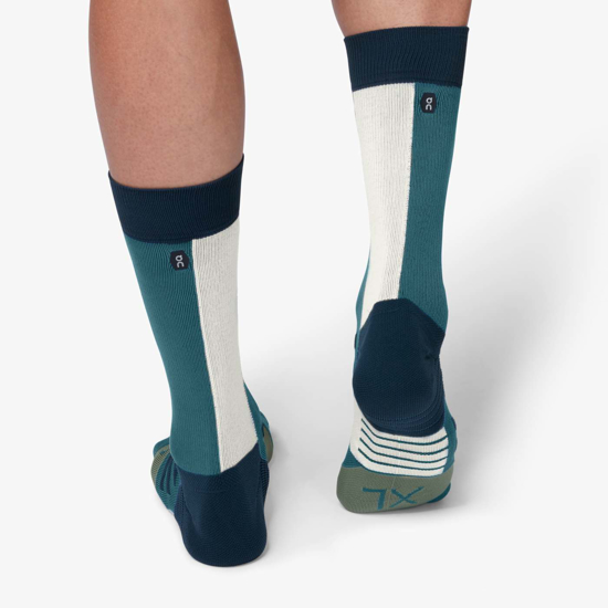 Picture of ON nogavice 322.00071 HIGH SOCK storm/moss