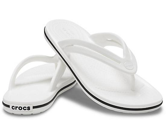 Picture of CROCS crocband flip 206100 white