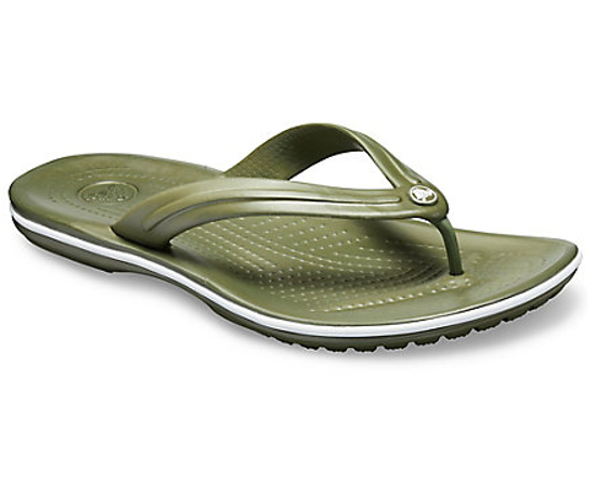 Picture of CROCS crocband flip 11033 army green/white