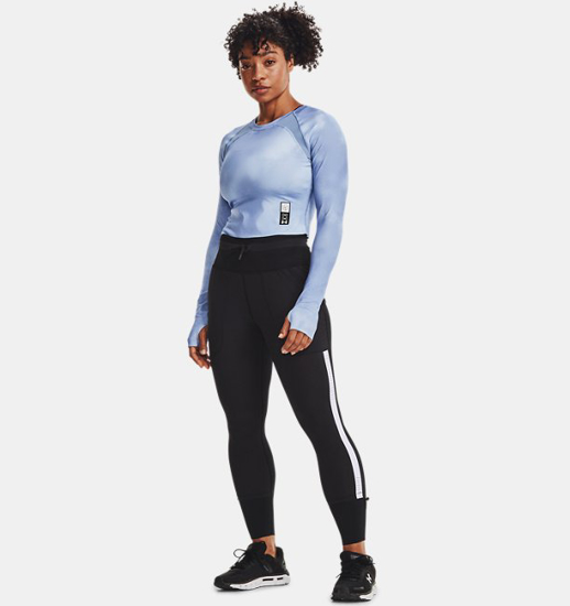 Picture of UNDER ARMOUR ž majica 1362683-438 UA RUN ANYWHERE CROPPED LS