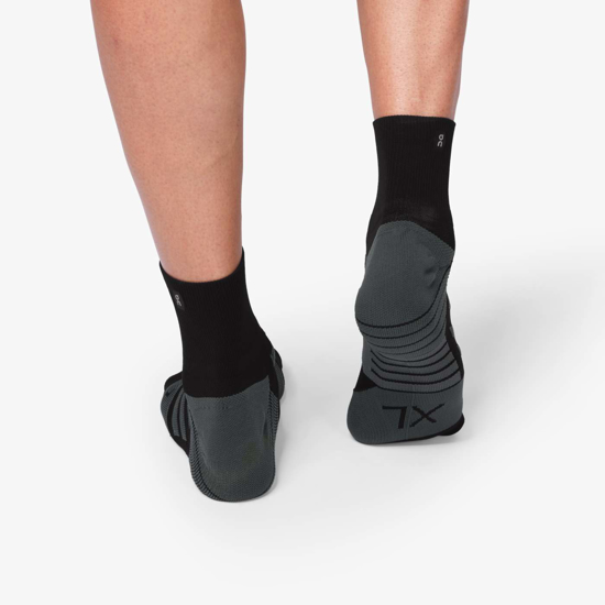 Picture of ON nogavice 312.00067 MID SOCK black/shadow