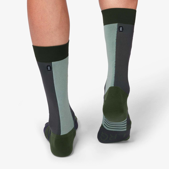Picture of ON nogavice 322.00072 HIGH SOCK forest/moss