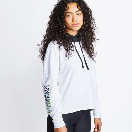 Picture of UNDER ARMOUR ž kapucar 1363260-100 RIVAL TERRY GEO HOODIE