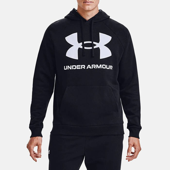 Picture of UNDER ARMOUR m kapucar 1357093-001 RIVAL FLEECE HOODIE