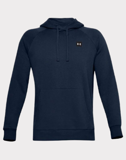 Picture of UNDER ARMOUR m kapucar 1357092-408 RIVAL FLEECE HOODIE