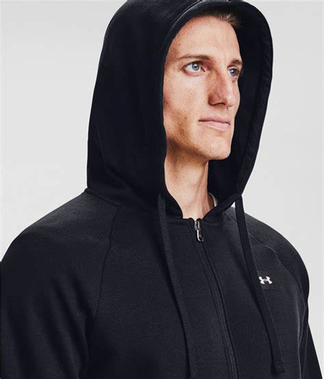Picture of UNDER ARMOUR m jopica 1357111-001 RIVAL FLEECE FZ HOODIE