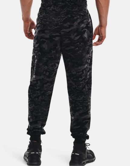 Picture of UNDER ARMOUR m hlače 1366313-001 RIVAL FLEECE CAMO SCRIPT JOGGERS