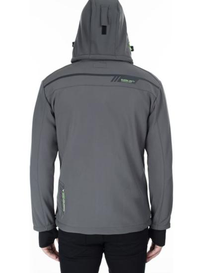 CANADIAN PEAK® m softshell TERLE dark grey/fluo green